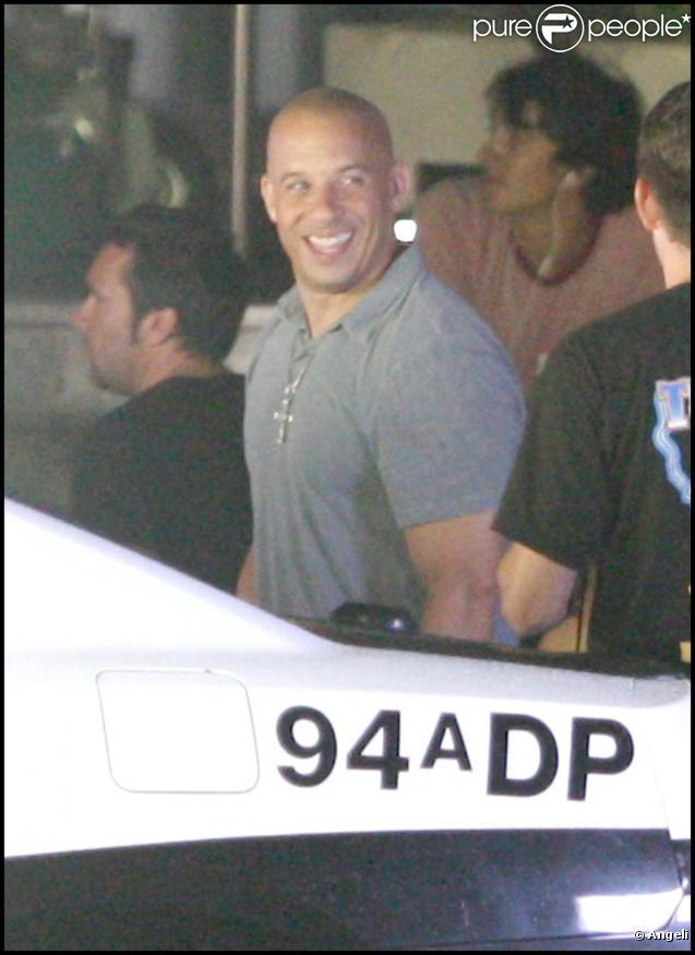 Vin Diesel sur le tournage de  Fast and furious 5 , à Puerto-Rico, le 30 juillet 2010