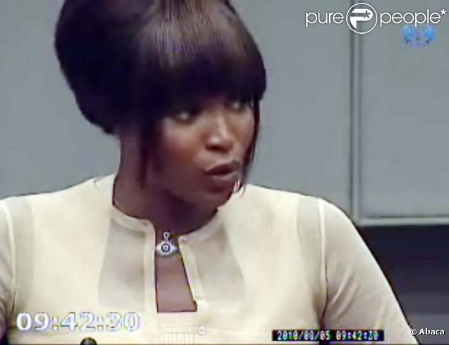 Naomi Campbell témoigne au procès de Charles Taylor, à La Haye, le 4 août 2010