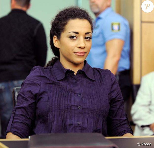 Nadja Benaissa, du groupe No Angels, lors de l'ouverture de son procès à Darmstadt, le 16 août 2010