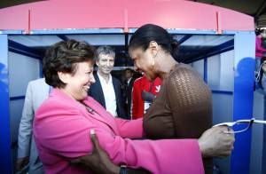 Roselyne Bachelot et Marie-José Pérec, très complices au nom du sport !
