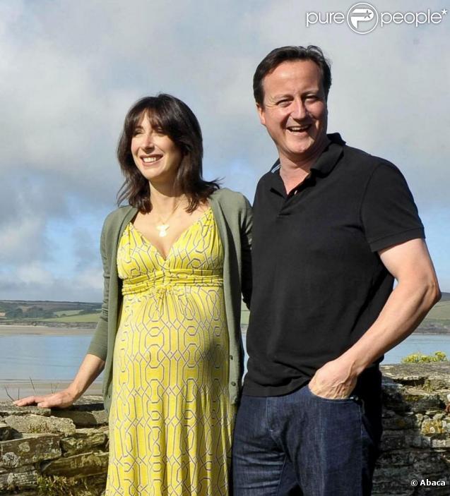 David Cameron et son épouse Samantha en Cornouailles