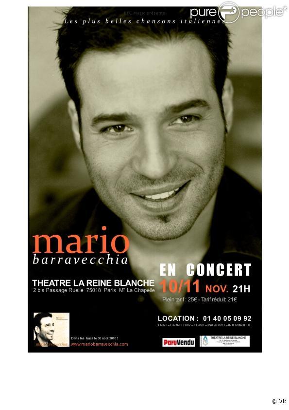 Mario Barravecchia en concert à le Reine Blanche les 10 et 11 novembre 2010.