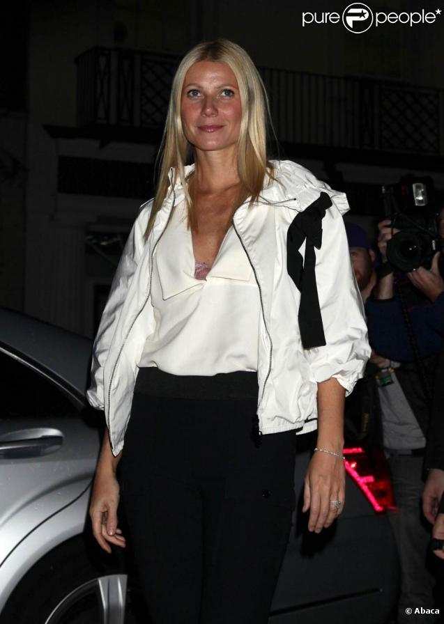 Gwyneth Paltrow lors de la soirée Fashion's Night dans la boutique Stella McCartney du centre de Londres, le 8 septembre 2010