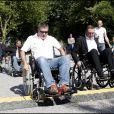Jean-Marie Bigard ont testé la vie en chaise roulante pour l'association Handynamic
