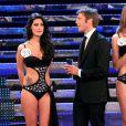 Emmanuelle Philibert de Savoie et la lauréate lors de l'élection de Miss Italie. 13/09/2010