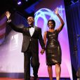 Barack et Michelle Obama lors du Congressional Hispanic Institute, dans le cadre du 33e Annual Awards Gala, qui s'est tenu à Washington au Convention Center, le 15 septembre 2010