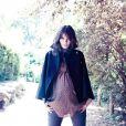 L'actrice Lucie Lucas est l'égérie de la marque de prêt-à-porter pour futures mamans, Sunday Rose