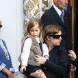 Sasha, la fille de Filip Nikolic lors des obsèques de ce dernier le 24 septembre 2009