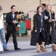 Chace Crawford et Ed Westwick, ainsi que Leighton Meester et Blake Lively sur le tournage de Gossip Girl à New York, le 21 septembre 2010