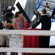 Jessica Szohr et Chace Crawford sur le tournage de Gossip Girl à New York, le 21 septembre 2010
