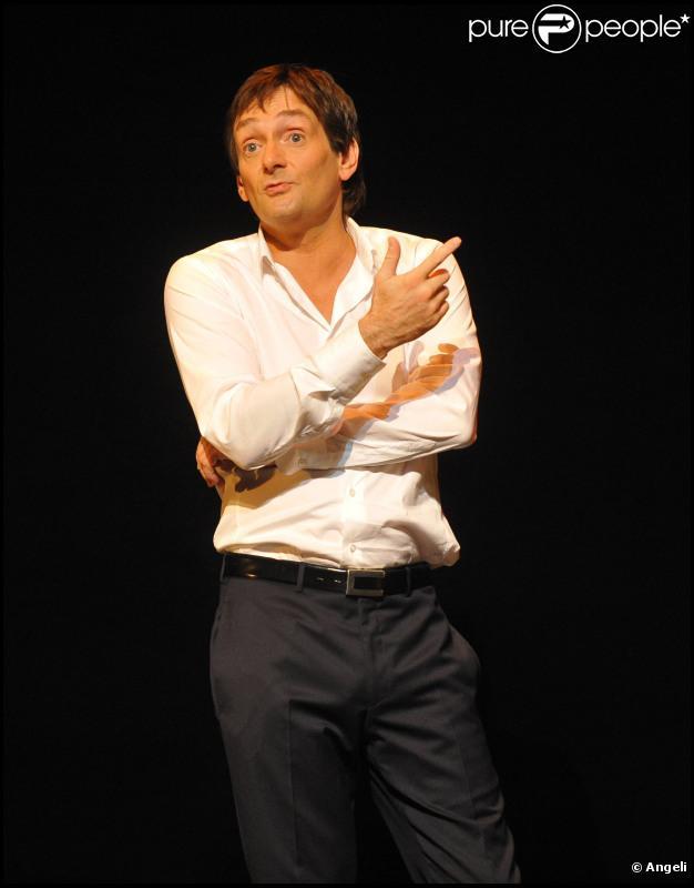 """Pierre Palmade en plein filage de son spectacle """"J'ai jamais été aussi vieux"""" (6 octobre 2010 à Paris)"""