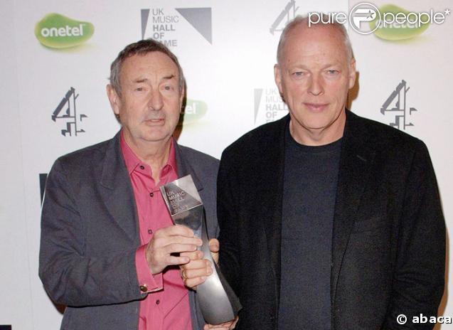 Pink Floyd : Nick Mason et David Gilmour
