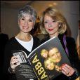 Evelyne Dress et Corinne Le Poulain lors de la soirée pour le lancement du livre ABBA à Paris le 14 octobre 2010