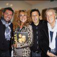 Jérome Anthony, Julie Piétri et Dave lors de la soirée pour le lancement du livre ABBA à Paris le 14 octobre 2010