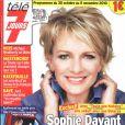 Sophie Davant, nouvelle star de France 2 (couverture de Télé 7)