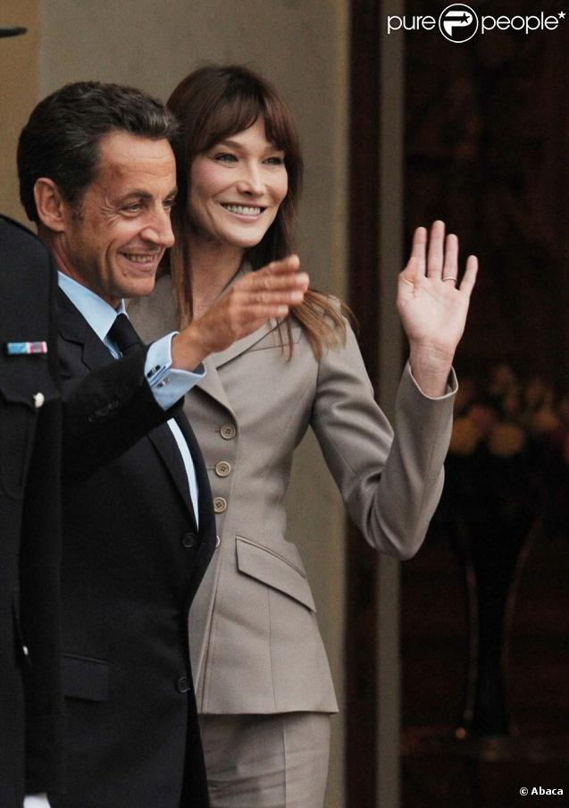 Nicolas Sarkozy et Carla Bruni, Élysée, 28 septembre 2010