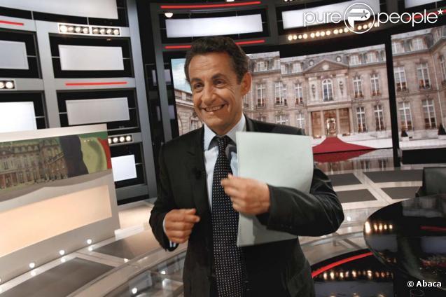 Nicolas Sarkozy sur le plateau de France 2, avril 2007