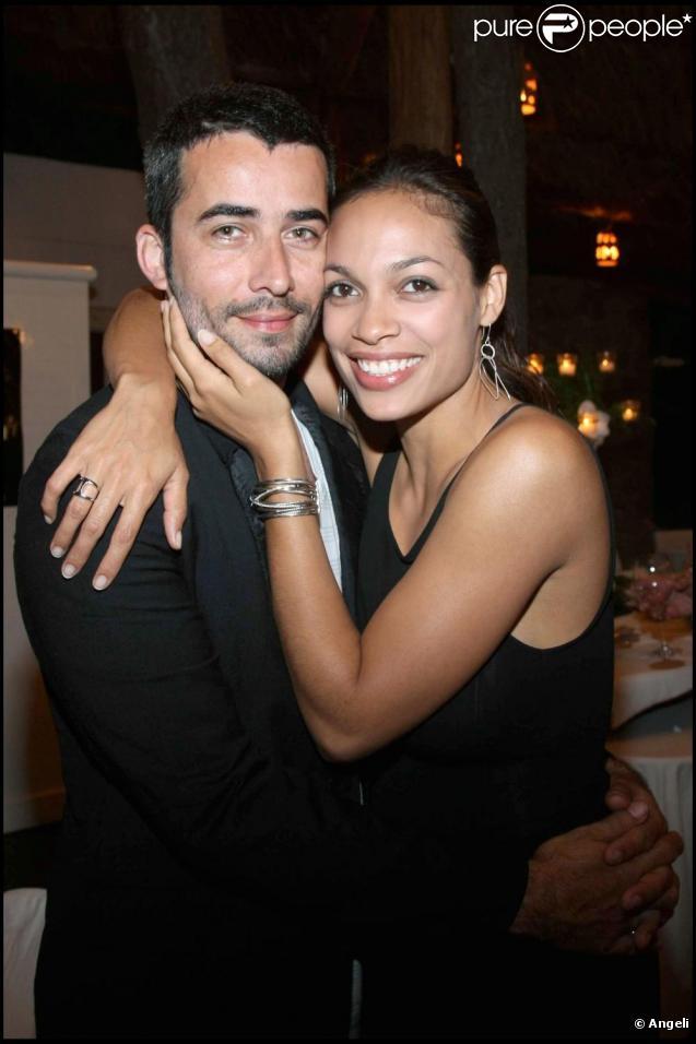 Rosario Dawson et son chéri Mathieu Schreyer