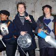 Jacno en 2003 avec Laurent Voulzy et Louis Bertignac pour la collection Working Class Heroes de son ami Castelbajac