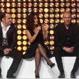 Frnçois-Xavier Demaison, Salma Hayek et Zinedine Zidane dans le show tv  Les Stars se dépassent pour ELA , le 13 novembre 2010 à Paris