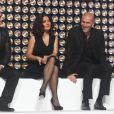 François-Xavier Demaison, Salma Hayek, Zinedine Zidane et Patrick Fiori dans le show tv  Les Stars se dépassent pour ELA , le 13 novembre 2010 à Paris