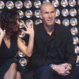 Salma Hayek et Zinedine Zidane dans le show tv  Les Stars se dépassent pour ELA , le 13 novembre 2010 à Paris
