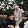 Zinedine Zidane avec les enfants de l'association ELA à Disneyland Paris, le 20 novembre 2010
