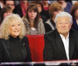 Petula Clark et son époux Claude Wolff durant l'enregistrement de l'émission Vivement Dimanche, diffusée le 28 novembre 2010 sur France 2.