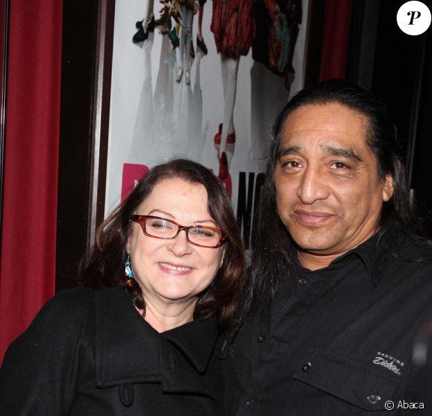 Josianne Balasko et son mari George Aguilar, octobre 2009
