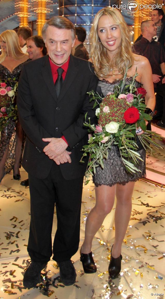 Salvatore Adamo et sa fille Amélie en novembre 2010