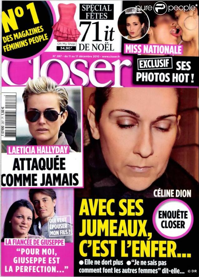 Le magazine  Closer  en kiosques samedi 11 décembre.