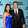 Matt Damon et son épouse Luciana le 27 mars 2010 à Beverly Hills