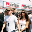 Matt Damon et son épouse Luciana au Grand Prix de Formule 1 à Monaco, en mai 2004
