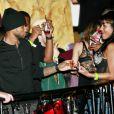 Usher en train de draguer lors de l'after party de son concert à Boston, le 21 décembre 2010