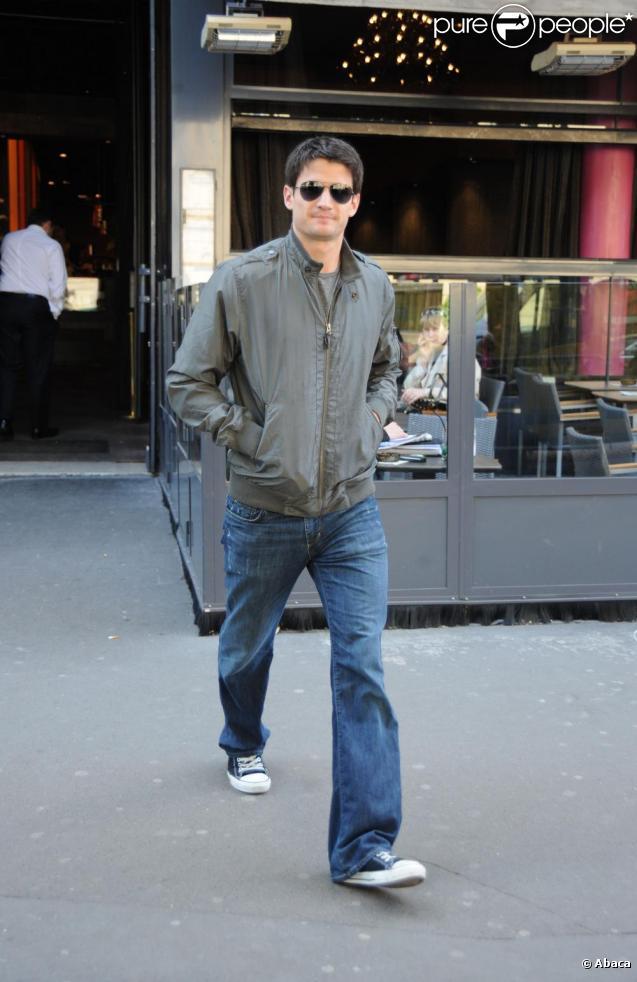 James Lafferty à Paris, le 27 avril 2009.
