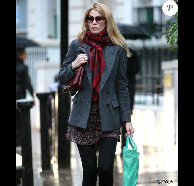Claudia Schiffer à Londres, le 17 janvier 2011.