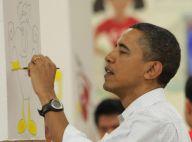 Barack Obama s'improvise peintre pour épater les femmes de sa vie !