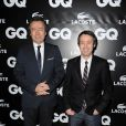 Michel Denisot et Yann Barthès à l'occasion de la GQ Man of the Year Party, dans l'enceinte du Shangri-La Hotel, à Paris, le 19 janvier 2011.