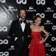 Frédéric Beigbeder et Anne Boulay à l'occasion de la GQ Man of the Year Party, dans l'enceinte du Shangri-La Hotel, à Paris, le 19 janvier 2011.