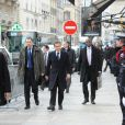 Nicolas Sarkozy regagne à l'Elysée après avoir déjeuné avec Jacques Chirac à l'Hôtel Bristol, le 21 janvier 2011.