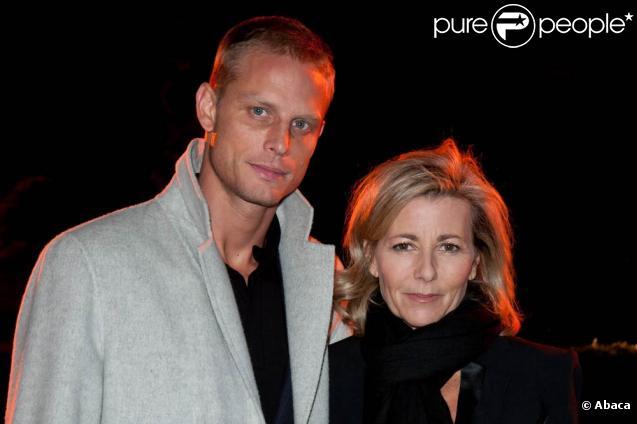 Claire Chazal et Arnaud Lemaire au Dîner de la mode, organisé au profit du Sidaction, le 27 janvier 2011, au Pavillon d'Armenonville.