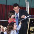 Adam Sandler reçoit son étoile sur Hollywood Boulevard, Los Angeles, le 1er février 2011