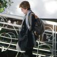 Eduardo Cruz et sa mère Encarna vont déjeuner à Los Angeles, après avoir vu l'enfant de Penélope Cruz et Javier Bardem, le 1er février 2011