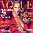 Rosie Huntington-Whiteley en couverture de Vogue UK édition mars 2011