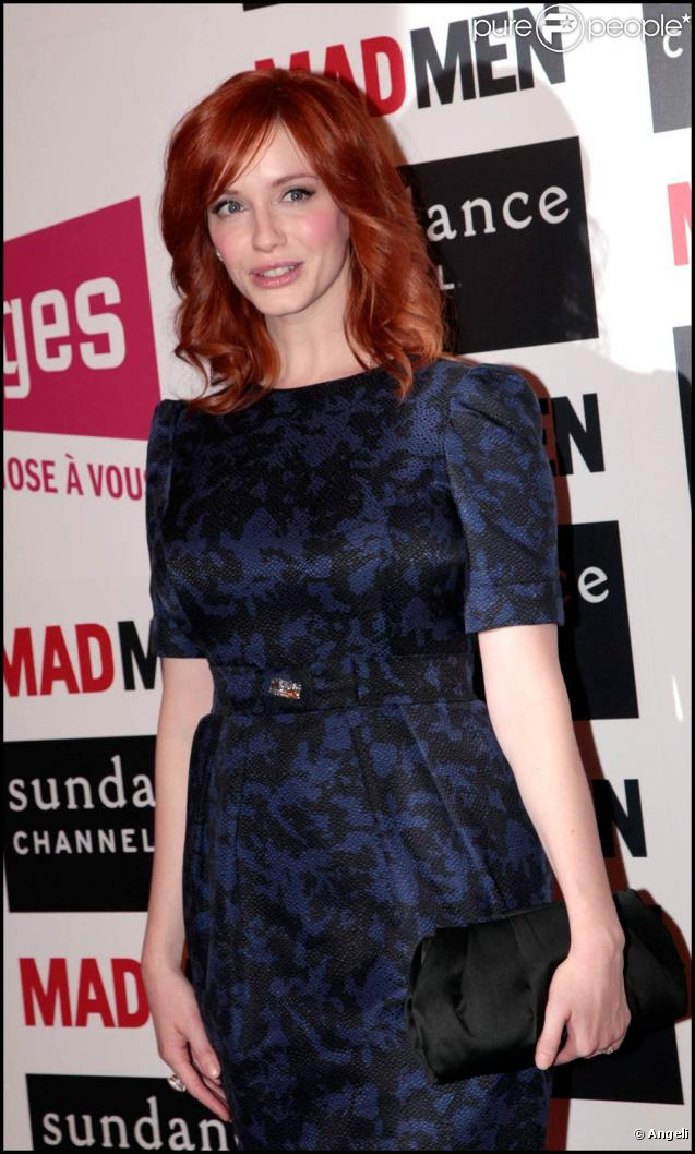 La ravissante Christina Hendricks lors de la rencontre avec les fans de la série  Mad Men , au Forum des Images, à Paris, le 9 février 2011.