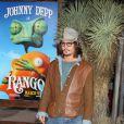 Johnny Depp et Isla Fisher, avant-première de  Rango  à Los Angeles, le 14 février 2011