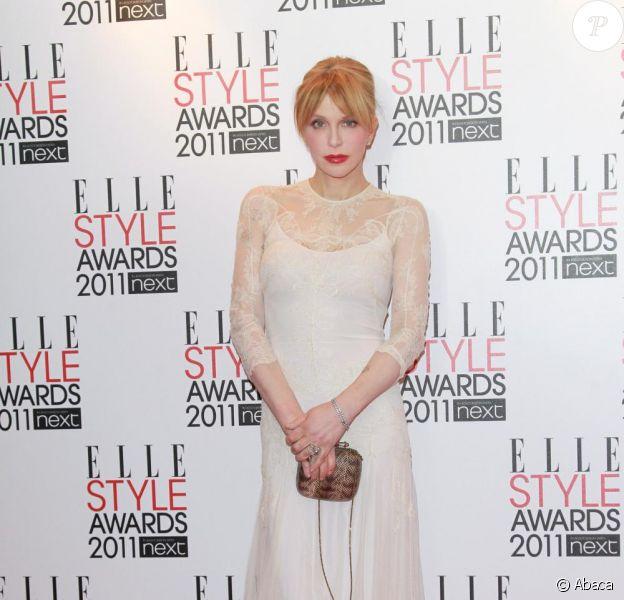 Courtney Love à la soirée Elle Style Awards à Londres, le 14 février 2011.