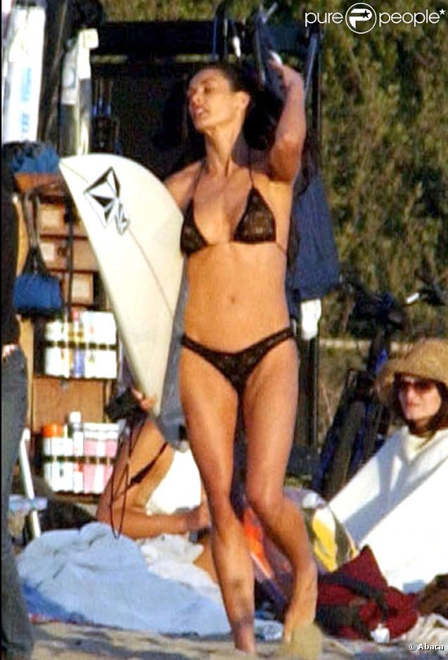 Demi Moore sur le tournage de Charlie's Angels en 2002