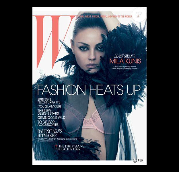Mila Kunis en couverture de W magazine, mars 2011.