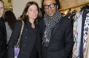 Manu Katché et sa ravissante femme honorent la mode parisienne...